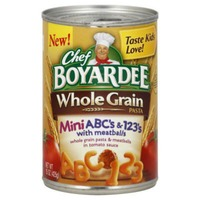 Chef Boyardee Whole Grain Mini ABC's & 123's Pasta