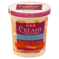 H-E-B No Sugar Added Orange Sherbet