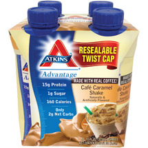 Atkins Advantage Cafe Caramel Shake 4ct