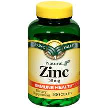 Spring Valley Zinc 50 mg  ct Spring Valley Natural Zinc Immune Health Dietary Supplement