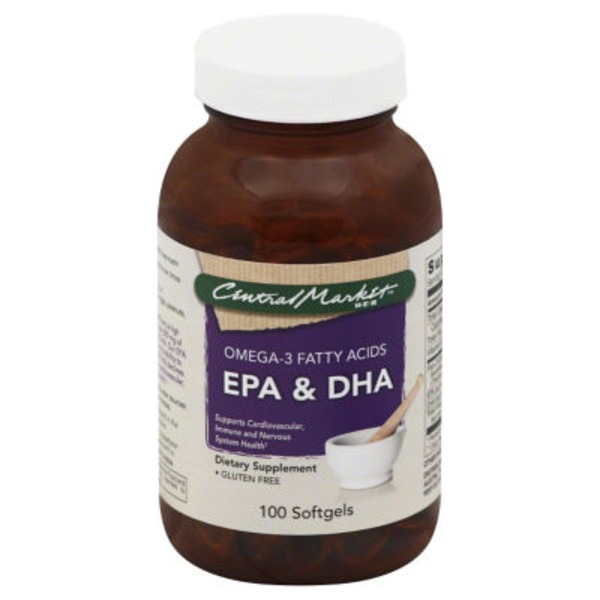 Central Market EPA & DHA Omega-3 Fatty Acids Softgels