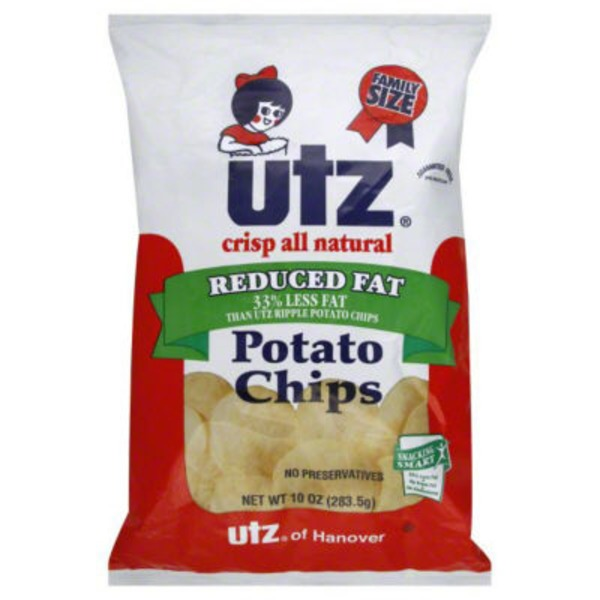 Utz Original Reduced Fat Potato Chips Family Size