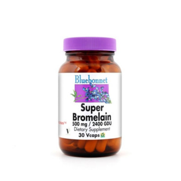 Bluebonnet Nutrition Super Bromelain 500 Mg 2400 GDU