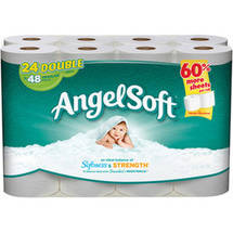 Angel Soft Toilet Paper 24 Double Rolls Bath Tissue