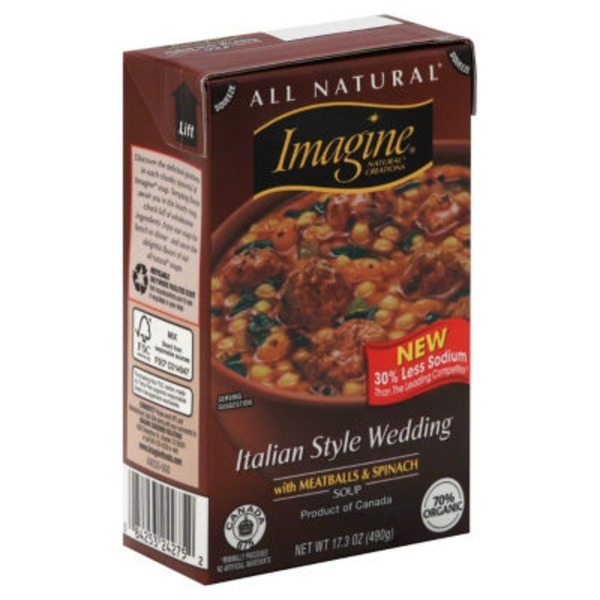 Imagine Foods Soup, Italian Style Wedding, with Meatballs & Spinach