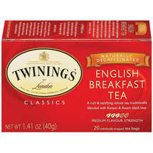 Twinings Of London Decaffeinated English Breakfast Tea Bags
