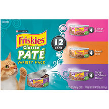 Friskies Wet Cat Food Classic Pate Variety Pack Pack of 12