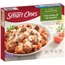 Weight Watchers Smart Ones Smart Creations Three Cheese Ziti Marinara with Meatballs