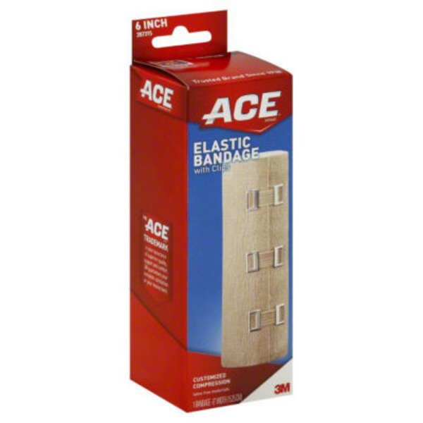 Ace Cider Company Elastic Bandage, with Clips, 6 Inch