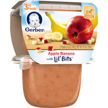 Gerber 3rd Foods Apple Banana Fruit Puree with Lil' Bits