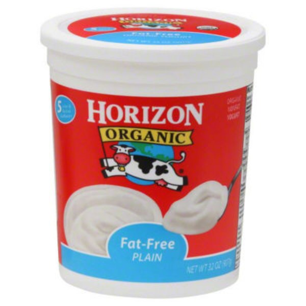 Horizon Organic Fat Free Plain Yogurt