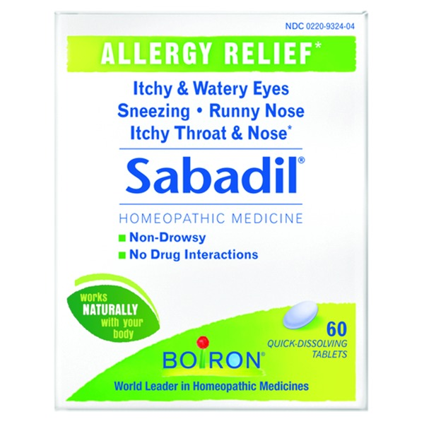 Boiron Sabadil Homeopathic Medicine Allergy Relief Quick Dissolving Tablets - 60 CT