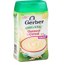 Gerber Organic Whole Grain Oatmeal Cereal