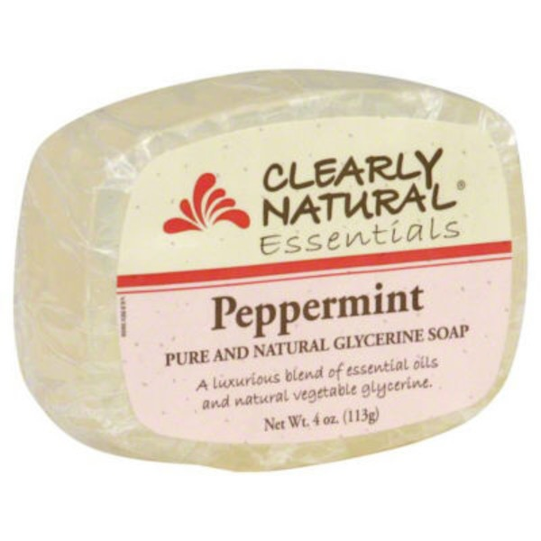 Clearly Natural Essentials Peppermint Pure and Natural Glycerine Soap