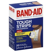 Band Aid® Brand Adhesive Bandages Tough Strips Waterproof 20 ct All One Size Premium