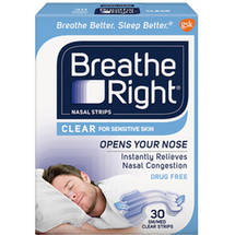Breathe Right Small/Medium Clear Nasal Strips
