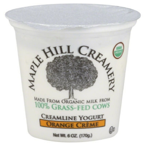 Maple Hill Creamery Yogurt, Creamline, Orange Creme