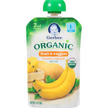Gerber 2nd Foods Organic Fruit & Veggies Banana Squash Baby Food