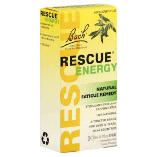 Bach Rescue Energy Natural Fatigue Remedy Spray