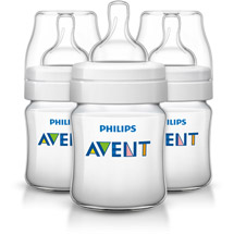 Philips Avent Classic+ 4 Ounce Bottles Blu Clear