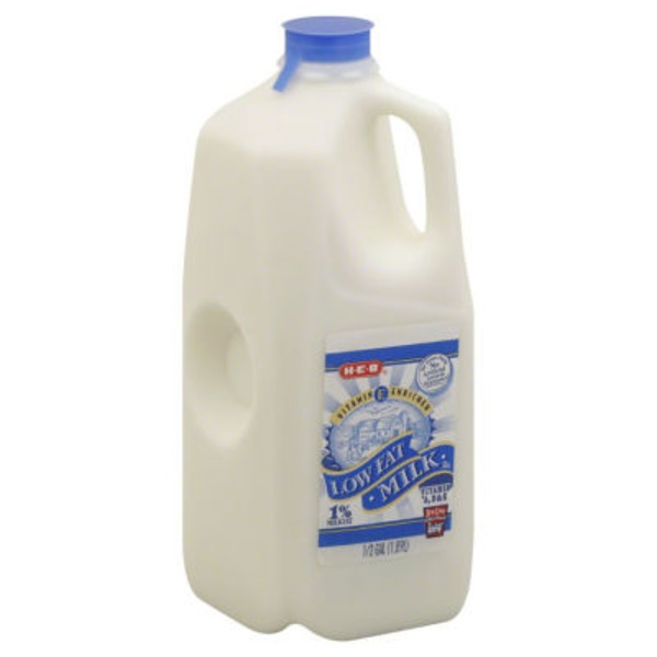 H-E-B 1% Low Fat Milk