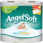 Angel Soft Toilet Paper 4 Double Rolls Bath Tissue