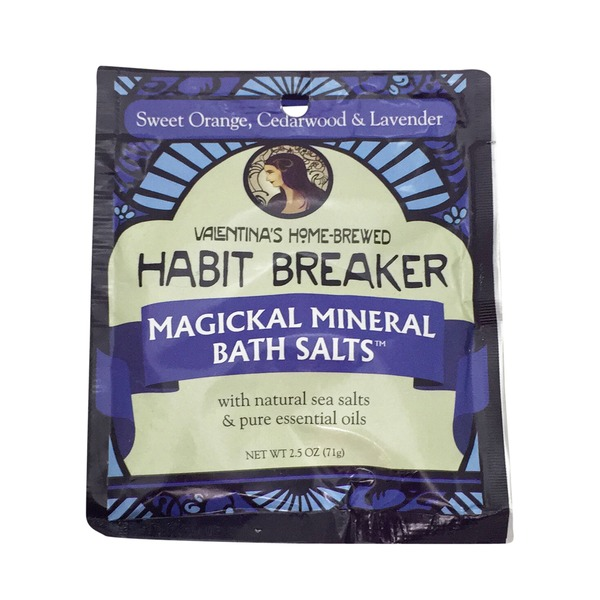 Valentina's Home Brewed Habit Breaker Magickal Mineral Bath Salts With Natural Sea Salts & Pure Essential Oils