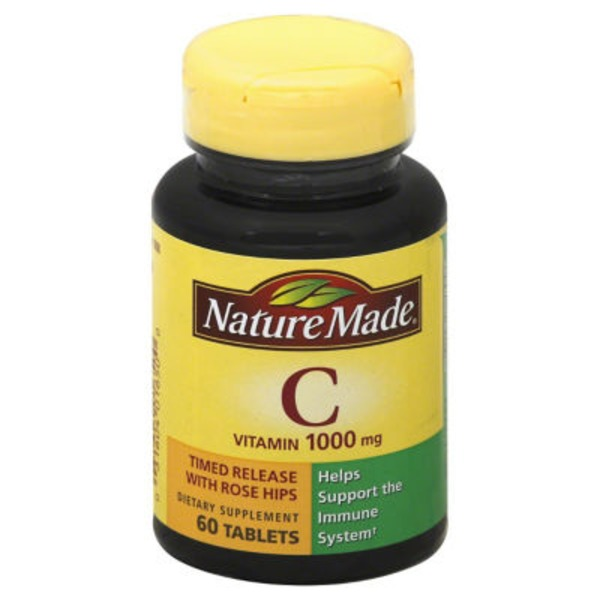 Nature Made Vitamin C 1000mg Dietary Supplement Tablets - 60 CT