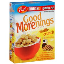 Post Good Morenings Waffle Crunch Cereal