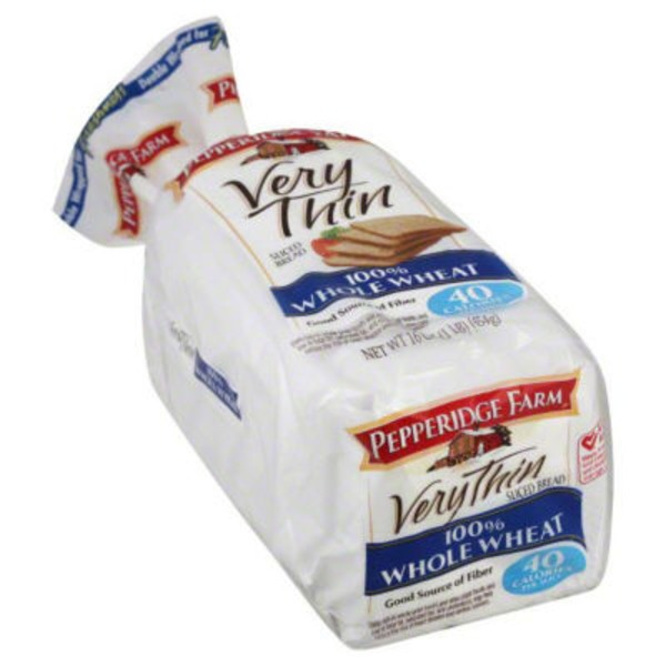 Pepperidge Farm Fresh Bakery Very Thin 100% Whole Wheat Bread