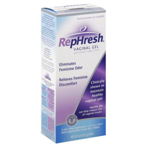 RepHresh Odor Eliminating Vaginal Gel Personal Lubricant