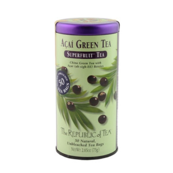 The Republic of Tea Acai Berry Green Superfruit Tea Bags