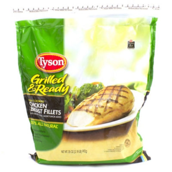 Tyson Frozen Grilled And Ready Chicken Breast Fillets