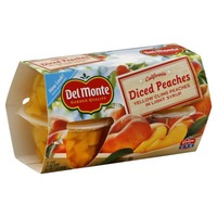 Del Monte Diced California Yellow Cling Peaches in Light Syrup Fruit Cups