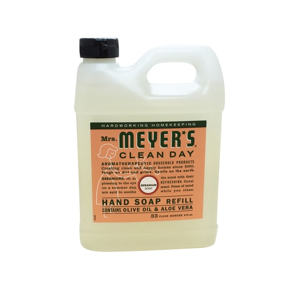 Mrs. Meyer's Geranium Scent Liquid Hand Soap Refill