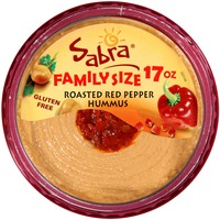 Sabra Roasted Red Pepper Family Size Hummus