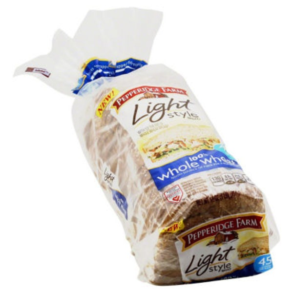 Pepperidge Farm Fresh Bakery 100% Whole Wheat Light Style Bread