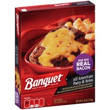 Banquet All American Patty & Fries Frozen Entree
