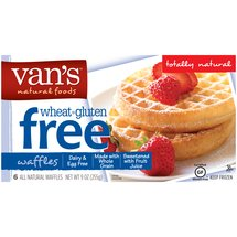 Van's Natural Foods Wheat & Gluten Free Totally Natural Waffles