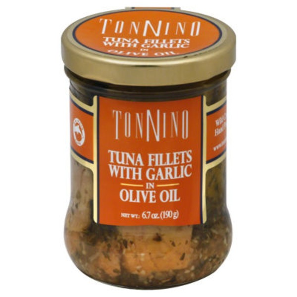 Tonnino Tuna Fillets with Garlic in Olive Oil