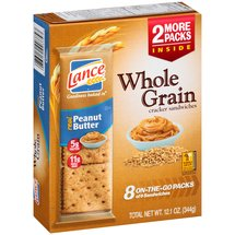 Lance Peanut Butter Whole Grain Cracker Sandwiches