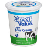 Great Value All Natural Light Sour Cream