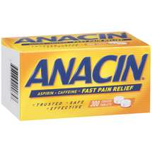Anacin Fast Pain Relief Coated Tablets with Aspirin & Caffeine Pain Reliever