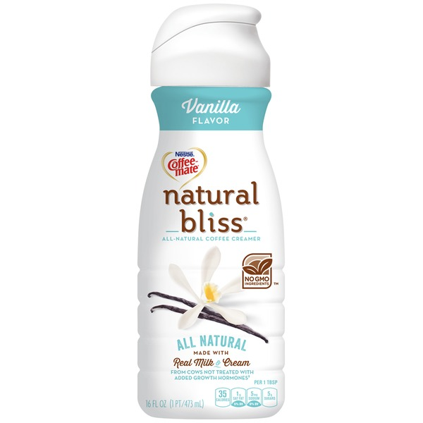 Nestlé Coffee Mate Natural Bliss Vanilla All Natural Liquid Coffee Creamer