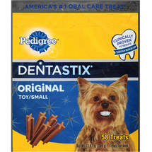 Pedigree Dentastix Original Flavor Daily Oral Care Mini Treats for Toy/Small Dogs 58 Count Value Pack