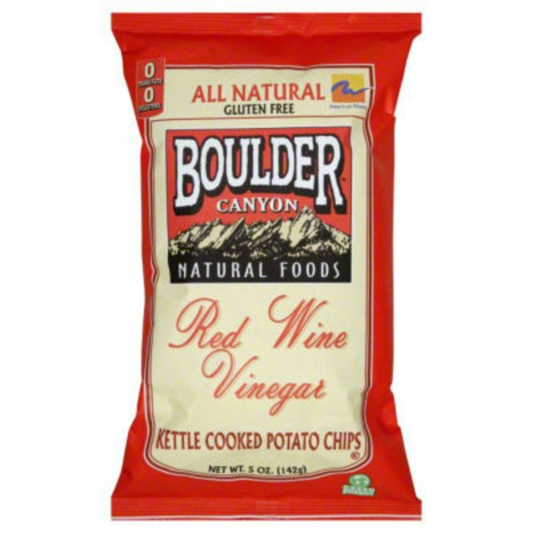 Boulder Canyon Potato Chips, Kettle Cooked, Red Wine Vinegar