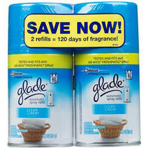 Glade Clean Linen Automatic Spray Air Freshener Refills (Pack of 2)