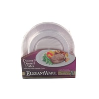 Elegantware Clear Plate Combo Pack