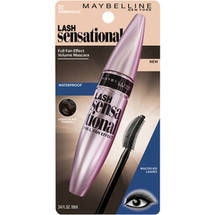 Maybelline New York Lash Sensational Waterproof Mascara 01 Very Black Waterproof Brownish Black