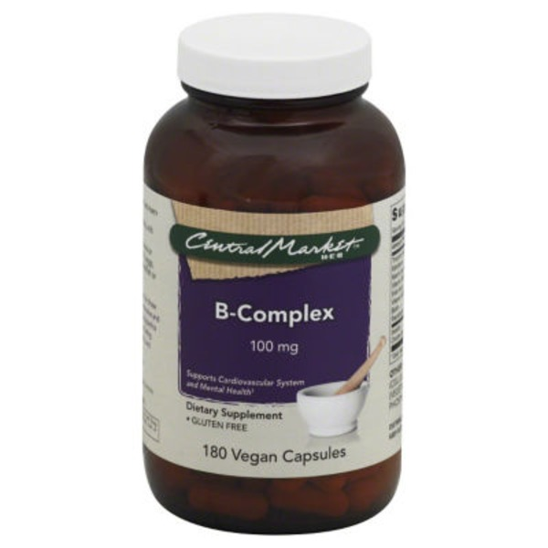 Central Market B Complex 100 mg Capsules